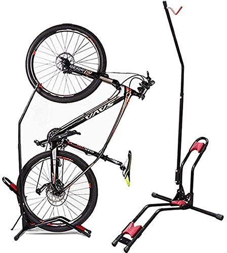 JAPUSOON Bike Stand Vertical Bike Rack,Upright Bicycle Floor Stand,Free Standing Adjustable Bike Garage Rack for Indoor Mountain/Road Bike Storage,Saving Space-No Damage Wall,Fits Most 20''-27'' Bike