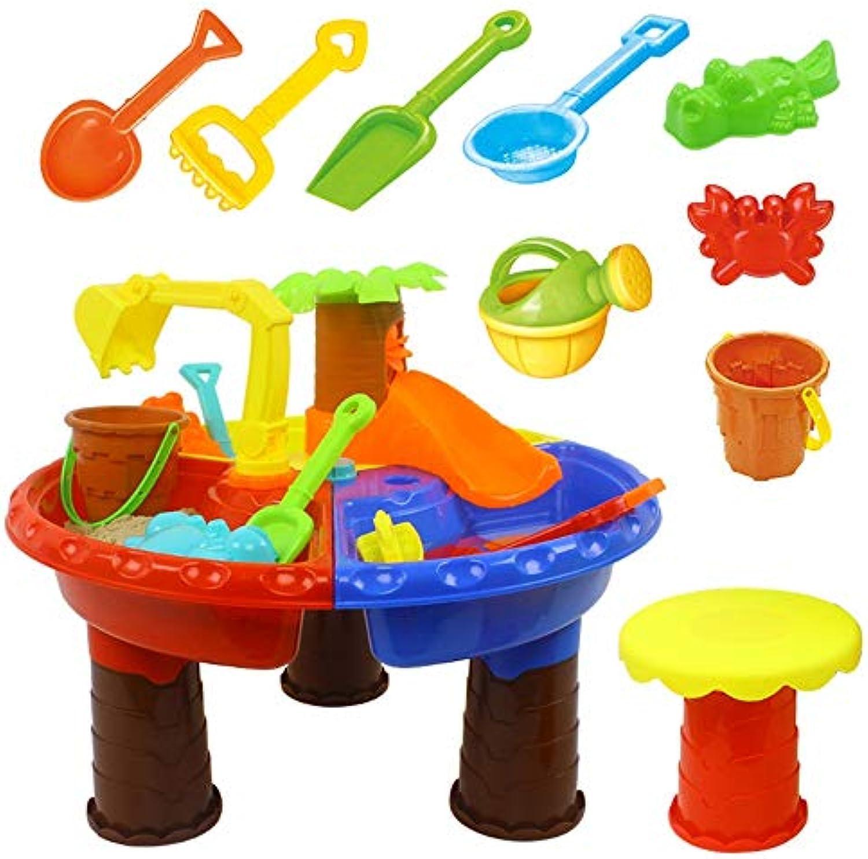 Kinder Strand Spielzeug Set Full Set Sand Castle Gebude Spielzeug Kit Strand Spielzeug Set Tisch Mit Stuhl Für Kinder Strand Eimer Mit Formen Eimer Schaufeln Rechen Rakes Rolle Spiel Pool Sandbox Spi