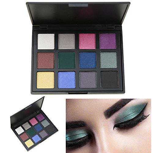 Cosmeticos Maquillaje Paleta de Sombras de Ojos, AMBITO 12 Colores Paletas de...