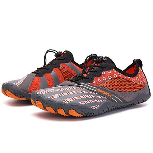 Aerlan Laufschuhe für Männer und Frauen,Zapatos para Correr de Aire para Mujer,Five Town Sabells Calzado de Senderismo al Aire Libre-Orange_39#