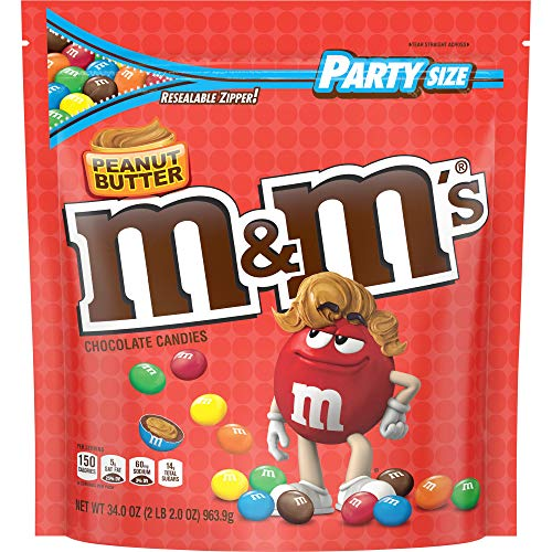 M&M's Peanut Butter - Erdnussbutter - Partypackung Bag USA (963.9g - 34oz)