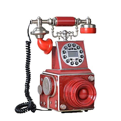 AODXI rode camera persoonlijkheid telefoon retro familie telefoon vast met blauw beeldscherm identificatie van Europese oproepen camera antiek foto tent woonkamer café feest