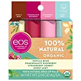 eos USDA Organic Lip Balm - Variety Pack | Lip Care to Nourish Dry Lips | 100% Natural and Gluten Free | Long Lasting Hydration | 0.14 oz | 4 Pack