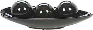Hosley's Elegant Expressions Black Decorative Bowl and Orb Set