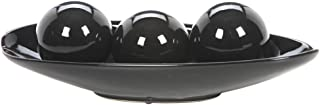 Hosley Black Decorative Bowl and Orb Set. Ideal Gift for Weddings Special Occasions and for Decorative Centerpiece in Your Living Dining Room O3