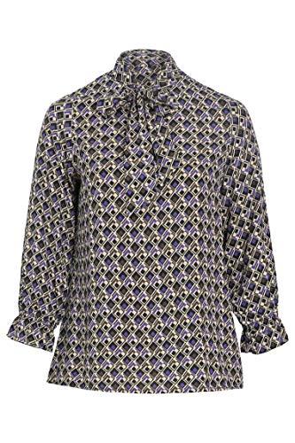 PAPRIKA Damen große Größen Bluse mit geometrischem Aufdruck und Schluppenkragen...