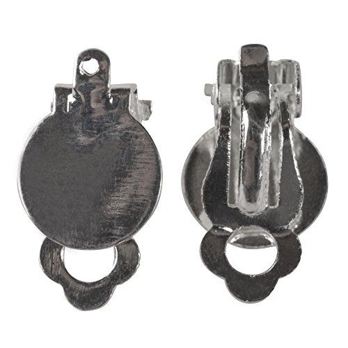Rayher 2227321 - Orecchini a clip con occhiello, 12 mm, 2 pezzi, platino
