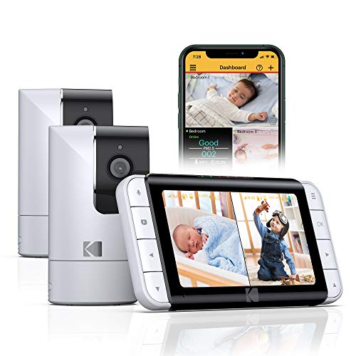 Kodak C525 + C125 WiFi Video Baby Monitor with Two Cameras, Full Room View,...