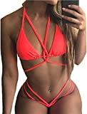 chicolife Mujeres Verano Bikini Dos Pieces Swimsuit Suit Vendaje Strappy Swimwear
