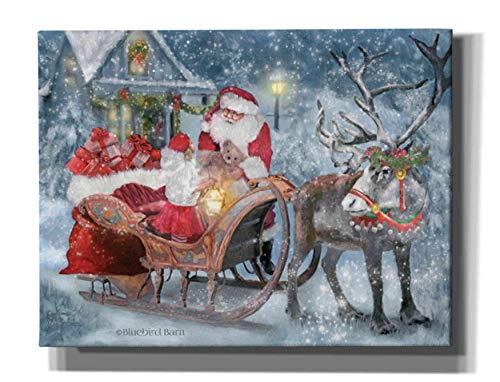 Epic Graffiti 'Santa's Little Helper' by Bluebird Barn, Canvas Wall Art, 34'x26'