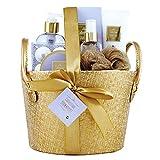 Gloss - caja de baño, caja de regalo para mujeres -  La basura del baño de primera calidad Firma - lavanda y de la orquídea - 7pcs