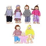 TOYMYTOY 7pcs muñecas de Madera de la Familia fingen el Juego de la Familia de...