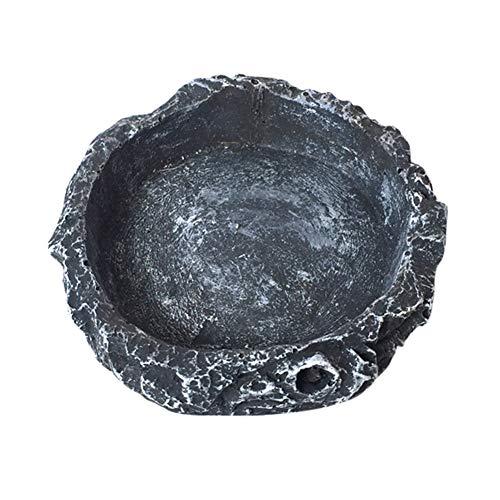 Haustiere Fütterung Platte Harz Schüssel Reptil Fütterung Futter Wasser Tablett Dish, leicht zu reinigen