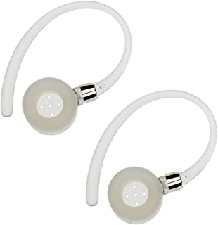 Yutoner 1 Pairs Earhooks for Motorola Boom 2, Boom, HX600, Elite Flip HZ720, H17, H17txt, H19, H19txt, HX550, H525, H520 Bluetooth Wireless Headsets Earloops Earclips Stabilizers (White-1 Pairs)