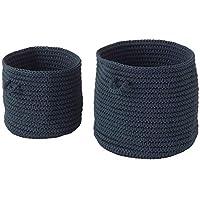 IKEA ASIA NORDRANA - Cesta (2 Unidades), Color Azul