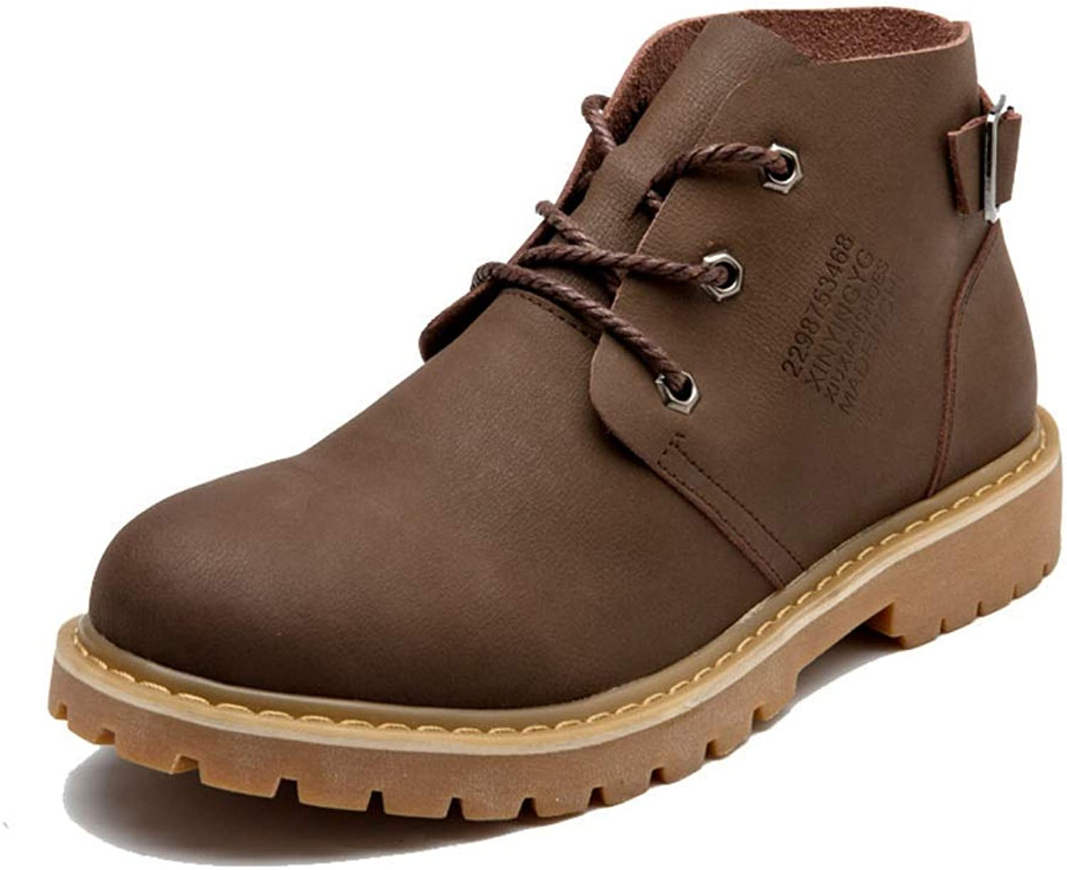 Fuxitoggo Men's ShuModish Ankle Boots, Casual Personality Antirust Metal Buckle Comfortable Sole Martin Boots (color  Brown, Size  39 EU) (color   Brown, Size   44 EU)