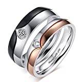 Personalized Promise Rings Set Engagement Bands Rings for Him and Her Custom Couples...