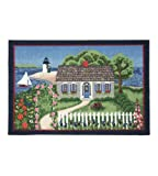 Area Rugs Indoor Outdoor Nautical Decor Washable Rugs Claire Murray Nantucket Scene 30x46 Inch