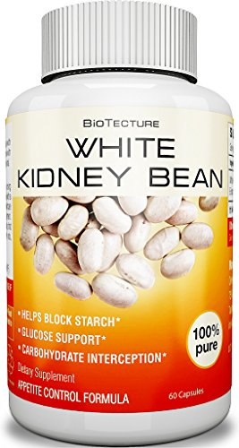 Pure White Kidney Bean Extract Capsules - 500mg of Natural Supplement for Glucose Support and Carbohydrate Interception. Best Appetite Control Formula - Helps Block Starch! Money Back Guarantee!