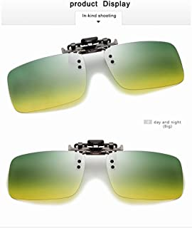 GR Newest Men Polarized Eyeglasses Clip On Driving TAC Sun Glasses UV400 Myopia Glasses Night Vision Goggles Day and Night (Color : Day and Night, Size : Big)