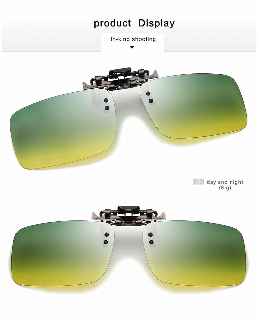 マーベル非アクティブ組Jieming 最新のメンズ偏光眼鏡は、TACの太陽の眼鏡UV400近視眼鏡ナイトビジョンのゴーグル昼と夜 (Color : Day and night, Size : Big)