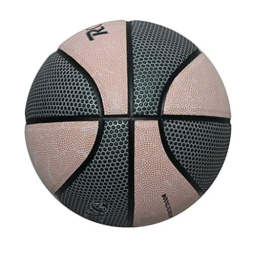 Great Price! makifly Size 7 Glowing Reflective Basketball with Air Pump, Battery-Free Light Up, Bask...
