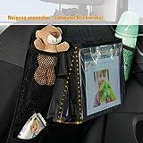 Diago Autorücksitz-Organizer mit verstellbarer Ipad Tasche/Auto Rücklehnenschutz/Utensilientasche für das Auto - schwarz