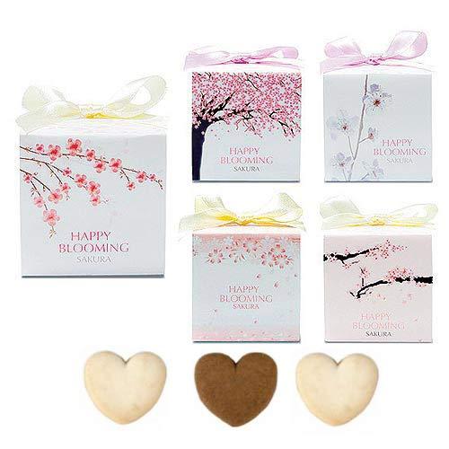 プチギフト お菓子 ばらまき 業務用『さくら・キューブ(ハートクッキー)』バレンタイン 義理 チョコ以外 大量 個包装 (60個セット)