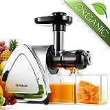 Extractor de jugo, extractor de jugo de frutas y verduras Homever con motor silencioso y función inversa, taza de jugo / cepillo de limpieza incluidos, sin BPA