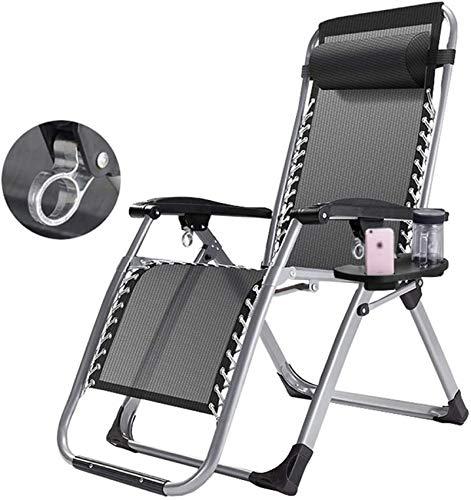 MFLASMF Productos para el hogar |Sillones reclinables Plegables Ajustables para Patio |Tumbona Asiento para Siesta con reposacabezas Playa Patio Jardín Camping al Aire Libre MAX.150 kg (