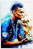HuGuan Lienzo Y Arte De Pared Póster 60X90Cm Kylian Mbappe Sports and Picture Modern Family Dormitorio Decoración Pintura Pared Y Estampados Cuadros Sin Marco