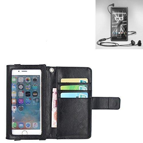 K-S-Trade® Für Marshall London Schutz Hülle Case Mit Bildschirmschutz/Schutzfolie Flip Cover Wallet Case Etui Hülle Für Marshall London Schwarz