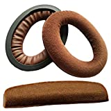 HD598 Replacement Ear Pads Compatible with HD 598, HD598SE, HD598CS, HD515, HD555, HD595, HD518 Headphones Replacement Upgrade Headband Brown (Velvet)
