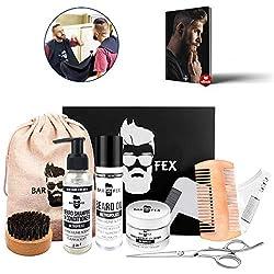 Bartpflegeset Sieger 2020 ● Hochwertige Pflege Made in Germany ● Herren Rasur und Geschenk Set von BarFex ● Kostenlose Bartpflegeanleitung