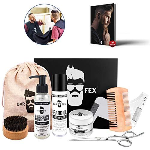 Bartpflegeset Sieger ● Hochwertige Pflege Made in Germany ● Herren Rasur und Geschenk Set von BarFex ● Kostenlose Bartpflegeanleitung