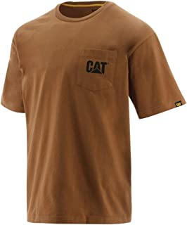 Men's Cat Logo Pocket Premium Cotton T-Shirt