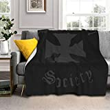 JenningCS Black Label Society Blankets Comfort Luxury Faux Fur Throw Blanket Ultra Soft and Fluffy Plush Throw Blankets for Couch Bed and Living Room Fall Winter and Spring 50'x40'