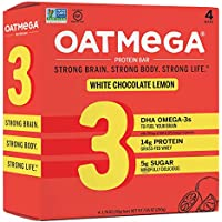4-Pack Oatmega Protein Bars, Healthy Snacks with Whey Protein