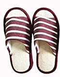 Lufa en Forma de Zapatilla,Lufa Savannah par de zapatos, Zapatillas De Interior, Zapatillas De Masaje De Spa Natural (Rojo-Pequeño mediano universal)