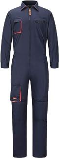 yukirtiq Pantalones con Peto de Trabajo para Hombre, Ropa de Trabajo Mono de Trabajo para Mecánicos, para jardín y Garaje,...