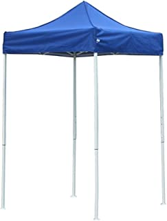 American Phoenix Canopy Tent 5x5 feet Party Tent [White Frame] Gazebo Canopy Commercial Fair Shelter Car Shelter Wedding Party Easy Pop Up (Blue)
