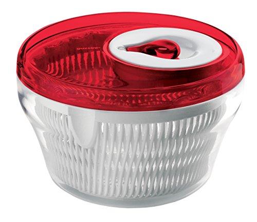 Guzzini Centrifuga Insalata Kitchen Active Design, Rosso Chiaro, Ø22 x h14 cm