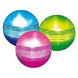 Heissner Solarkugel Set 3 Mehrfarbige LED Solar Bälle D=11,5 cm