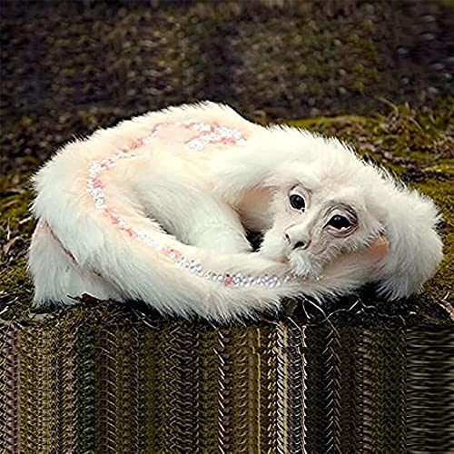 NAUXIU Falkor from The Neverending Story - Falkor The Luck Dragon Plush Animal Toys Doll Decorative,Handmade Figure Doll Gift Living Room Bedroom Decor Ornament A