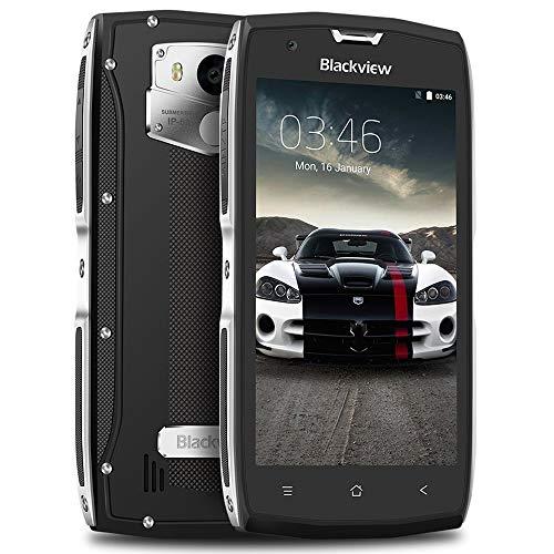 "Móvil Antigolpes, Blackview BV7000 Android 7.0 Smarthphone Libre, IP68 Resistente, 3500mAh Batería, 5.0"" FHD Pantalla, 2GB + 16GB Quad-Core, Rugged Phone, WiFi, Bluetooth, NFC, GPS + GLONAS - Plata"