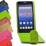 Flip 2 in 1 set Tasche für Hisense Sero 5 Slide Kleber Hülle Case Cover Schutz Bumper Etui Handyhülle in Grün