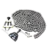 FDJ Go Kart Chain 40 Roller Chain 10 Feet with Connecting Link and Chain Cutter Tool Kit