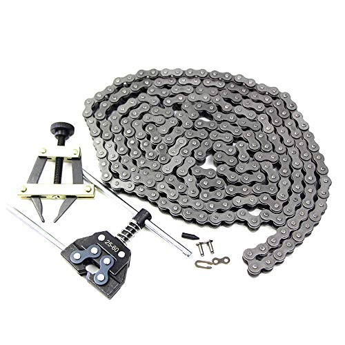 FDJ Minibike Chain 41 Roller Chain 10 Feet with Connecting Link and Chain Detacher Tool Kit