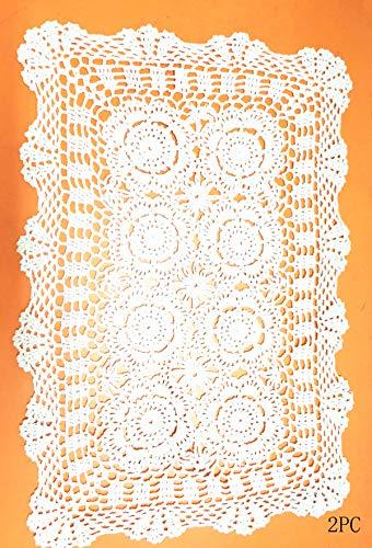 Damanni 2PC Rectangular Cotton Handmade Crochet...
