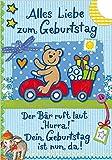 Geburtstagskarte für Kinder Basic Classic - Bär
